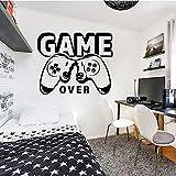 Juego de pared calcomanía pegatinas de vinilo jugador chico chico dormitorio sala de juegos decoración del hogar papel tapiz creativo