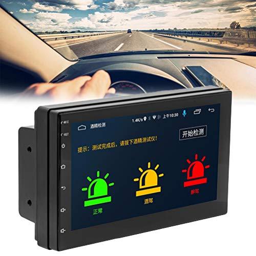 Gazaar Navegación GPS Radio de coche 7 pulgadas Muti-pantalla táctil antirrobo,reproductor de DVD estéreo desmontable para coche,soporte Bluetooth,receptor FM AM RDS y sistema de audio y vídeo