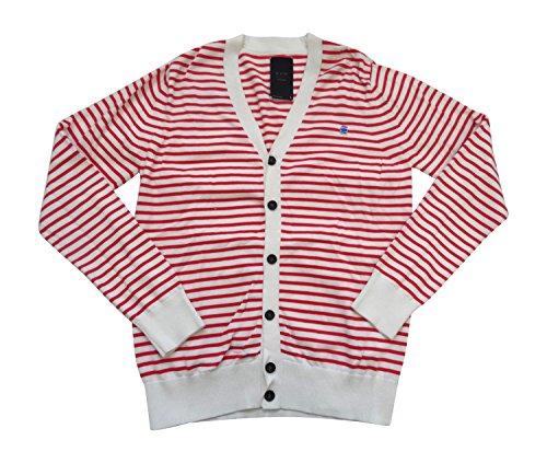 G-STAR RAW Correctline Streifen Cardigan Knit L/S 86923.3446.619Pullover Gr. Größe L, scarlet breton stripe knit