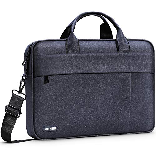 HOMIEE Laptop Schultertasche 17 Zoll, Umhängetasche für 15.5 Zoll MacBook Pro Retina, 15 Zoll Surface Book 3, Umhängetasche Gepäckgürtel kompatibel mit Dell Lenovo ThinkPad Acer HP Notebook