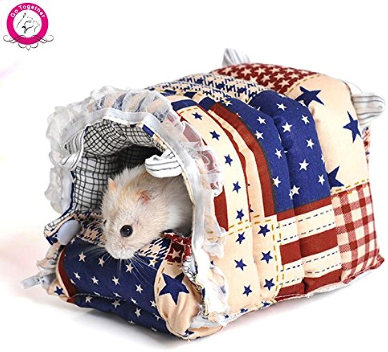 Bosun(TM) Winter Warm Small Animal Pet House Hammock Rabbit Hamster Rat Hanging Bed House SXL