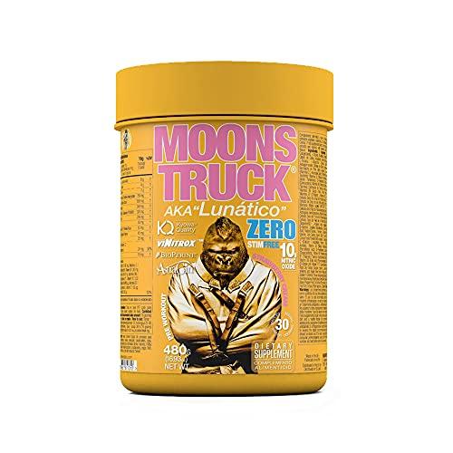 Moonstruck Zero - Pre entreno - Pre Workout en polvo - Suplemento para deportistas a base de Aminoácidos, Creatina Monohidratada, Extractos Vegetales y Vitaminas - 480 gr (Strawberry Cream)