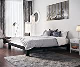 In Style Furnishings Stella Modern Metal Low Profile Thick Slats Support Platform Bed Frame - Full Size, Black