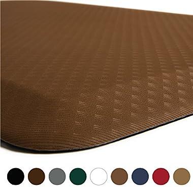 Kangaroo Brands Original 3/4  Anti-Fatigue Comfort Standing Mat Kitchen Rug, Phthalate Free, Non-Toxic, Waterproof, Ergonomically Engineered Floor Pad, Rugs for Office Stand Up Desk, 39x20 (Mocha)