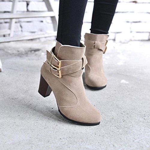 Hemlock Ankle Boots Women, Ladies Winter Dress Boots Zipper High Heels Booties Shoes Pointed Top Boots