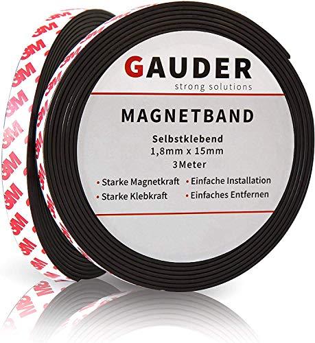 Cinta adhesiva magnética   Banda Magnética Autoadhesiva 19 mm x 2,5 m   3m,Negro   Tira de Iman para la imantación Fija de Carteles, Fotos, Papeles