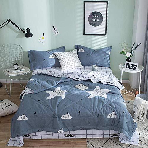 ZTBXQ Bedroom Accesssories Bedding Bedroom Decor Reversible Coverlet Cool summer lightweight ultra-fine fiber duvet-anti-allergic cooling reversible bed cover-Grey1_78.7 * 90.5cm