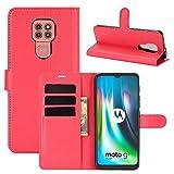 SHUFEIVICC for Motorola Moto G9 / G9 Jouer Litchi Texture Retournement Horizontal étui de...