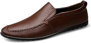 [ワイエルワイ] メンズ ドライビング ビジネスシューズ 防滑 軽量 通気 カジュアル 革靴