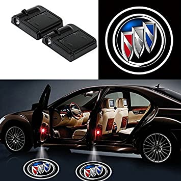 2Pcs Wireless Universal Car Projection LED Projector Door Shadow Light Welcome Light Laser Emblem Logo Lamps Kit No Drilling Required for Ford