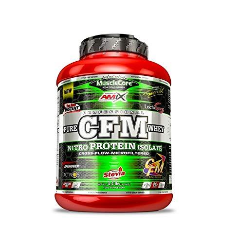 AMIX MuscleCore CFM Nitro Protein Isolate - 2 kg Doble Chocolate + Bcaa Zero + Mezclador ⭐