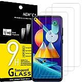NEW'C 3 Unidades, Protector de Pantalla para Samsung Galaxy A11, Galaxy M11, Antiarañazos, Antihuellas, Sin Burbujas, Dureza 9H, 0.33 mm Ultra Transparente, Vidrio Templado Ultra Resistente