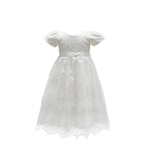 3b81a14cf9b01 Selene Ivory Embroidery Lace Christening Gown Baby Girls Formal Wedding  Birthday Party Bridesmaid Dress Baby Baptism