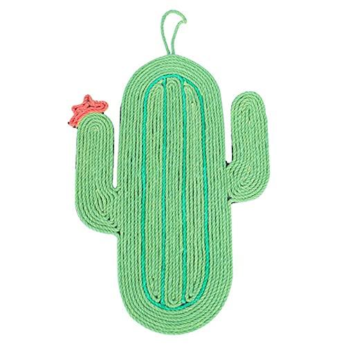 Camidy, tiragraffi a forma di cactus, in sisal, da appendere alla parete, per gattini e gatti