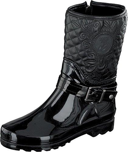 GOSCH SHOES Sylt - Damen Gummistiefel Naturkautschuk 7102-503-9 Black (39, Black)