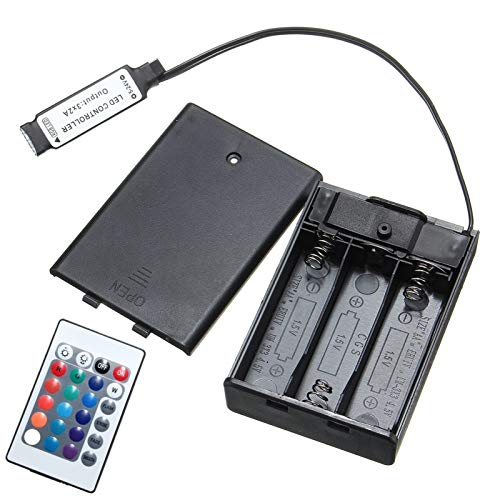 DC4.5V Mini RF Controller Battery Box con 24 teclas de control remoto for tira de RGB LED ILFYJRHD