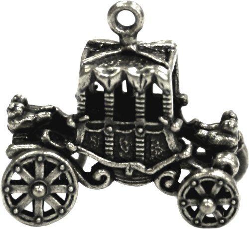 INAZUMA Charm Carro de Caballos Plata Antigua