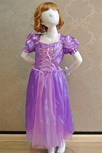 『【ノーブランド品】ラプンツェル風 ドレス ティアラ 2点セット M』のトップ画像