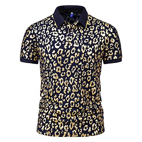 Henley Camisa Hombre Verano Moderno Ajustado Hombre Correr Shirt Moda Estampado Botón Placket Shirt Básica...