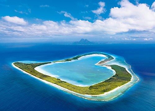 EPOCH ! 500 Pezzo di Puzzle Obiettivo del Master Cuore Aperto dell'isola Tsubai - Polinesia Francese (38x53cm)