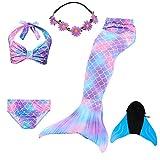 COZY HUT 2019 Mädchen Cosplay Kostüm Badebekleidung Meerjungfrau Shell Badeanzug 5pcs Bikini Sets...