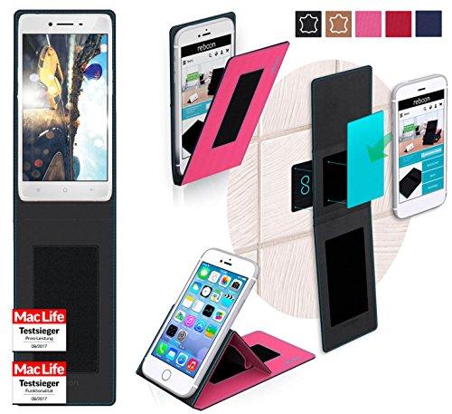 reboon Hülle für Oppo R7 Tasche Cover Case Bumper   Pink   Testsieger
