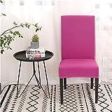 Funda silla de escritorio Cubierta de silla for sillas de comedor Cubierta de silla elástica doméstica Hotel Comedor Oficina Asiento de computadora Funda-Crema-White Universal Fundas de silla