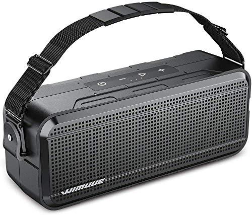 WIMUUE 40W Bluetooth Lautsprecher Lauter tragbarer drahtloser mit integrierter 8000mAh Powerbank IPX6 wasserdichte Außen oder Innenlautsprecher mit TF-Kartensteckplatz, TWS, Equalizer, 3,5 mm Aux