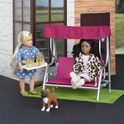 Our Generation Lori Dollhouse - GARDEN PATIO SET - Fashionable and Fun Furniture for 6 inch Dolls