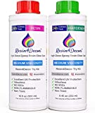 Resina epoxi RESIN4DECOR una capa transparente Viscosidad Media Art Resin para...