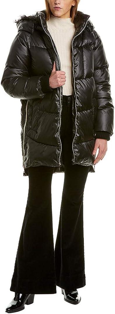 kensie Women's Faux Fur Trim Hooded Puffer Coat