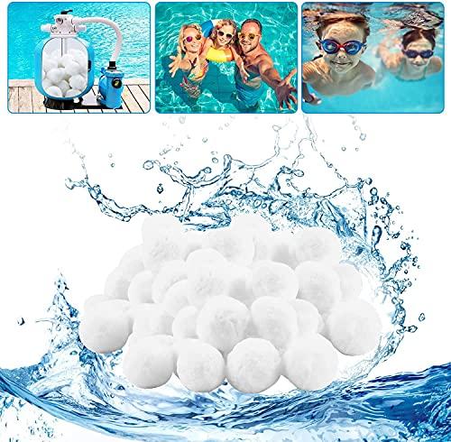 Herefun Bolas Filtro Piscina, Filter Balls, 500g Bolas Filtrantes Remplazar 18kg Arena de Filtro, Bolas de Filtro, Arena Filtro Piscina para Acuario Piscinas Filtros de Agua (500g)