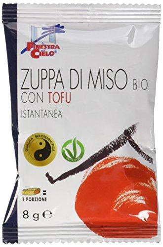 La Finestra Sul Cielo Zuppa di Miso Istantanea Con Tofu Bio Monoporzione - Pacco da 10 x 8 g