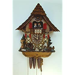 Schneider 14 Chalet Cuckoo Clock with Moving Woodchopper, Water Wheel and Dancing Children