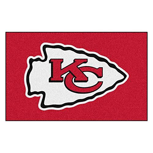 FANMATS Kansas City Chiefs - Alfombra (1,5 x 2,4 m), Color Rojo