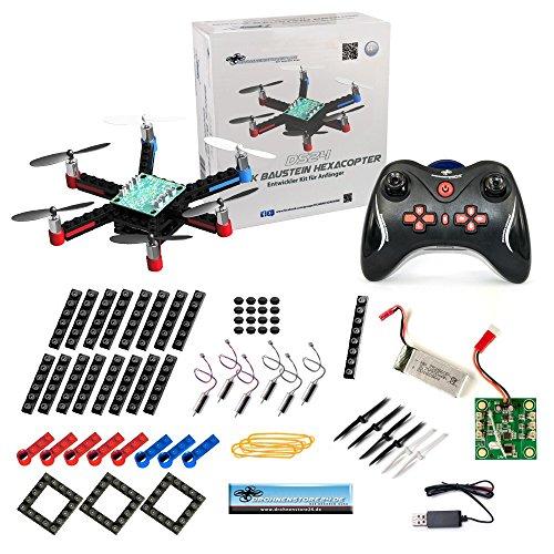 DROHNENSTORE24.DE ...DER DROHNEN-GURU DS24 Baustein Hexacopter - die Brick Drohne zum Selbstbauen - Bausatz für Groß und Klein - Anfänger Copter