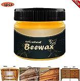 Balock Möbelpflege Bienenwachs - Holzpflege Bienenwachs Möbelpflege Bienenwachs Poliermittel Reinigungsmittel - Holzwachs Möbelwachs Natürlichem Bienenwachs - Wasserdicht Abriebfest (B)