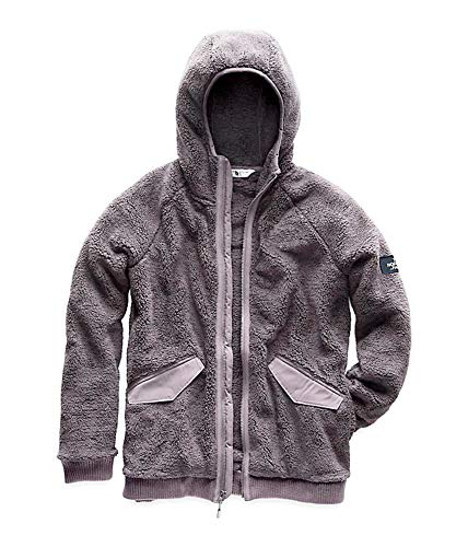 The North Face Women's Campshire Bomber Full Zip Hooded Jacket Sherpa Fleece (L)