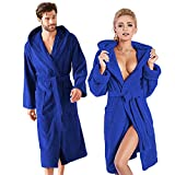 <span class='highlight'>HANSON</span> <span class='highlight'>AND</span> <span class='highlight'>LANGFORD</span> Dressing Gown Mens Womens Dressing Gowns Lightweight Cotton Terry Towelling Bathrobe Ladies Men Hooded Bath Towel Housecoat Spa Robe Gym Shower Wrap Bathrobes (S/M, Royal Blue)