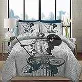 Ropa de cama Juego de funda nórdica Esculturas Arrugas, decoloración,...