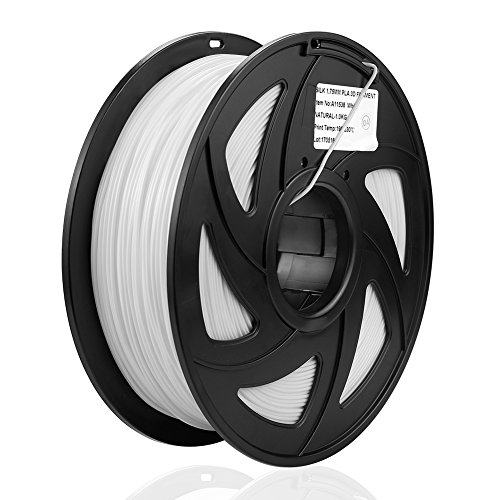 SIENOC 1kg 1.75mm ABS 3D printer filament Printer - With coil (White)