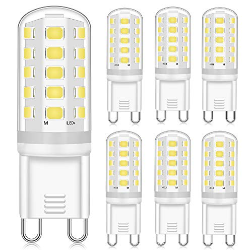 Eco.Luma Bombilla LED G9 regulable, 4 W, repuesto para 40 W, 33 W, G9, luz blanca neutra, 4000 K, 400 lm, casquillo G9, sin parpadeo, CA 220 – 240 V, 6 unidades