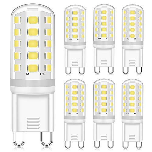 Eco.Luma G9 LED Dimmbar Leuchtmittele 4W Ersatz für 40W 33W G9 Halogenlampe, Neutralweiß 4000K 400LM, G9 Sockel Glühlampe, Kein Flackern, AC220-240V, 6er Pack