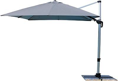 Milo srl - Sombrilla Parasol de jardín para Exterior, Poste Lateral Lipsi Gris 3 x 3 Aluminio: Amazon.es: Jardín