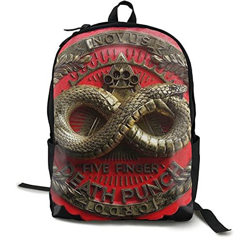 Five Finger Death Punch Mochila de gran capacidad para viajes escolares