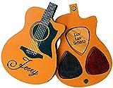 Dinikally Juego de 3 púas de guitarra de madera, con caja de púas personalizable,...