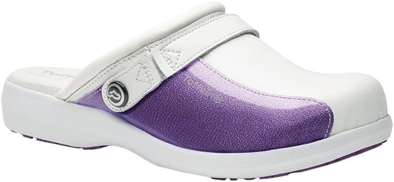 Alexandra Toffeln STC-FW537PU-8 Ultra Lite Clog, Leather, Plain, Size  8, Purple