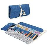 Luxja 編み針収納ケース 編み針 編み物 道具 保管 持ち運び(ケースのみの販売) 青