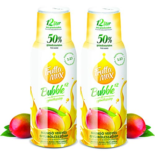 Frutta Max Getränkesirup Frucht Sirup Konzentrat | Mango Geschmack | weniger Zucker | mit 50% Fruchtanteil | für Soda Maschine geeignet 2erPack(2x500ml)