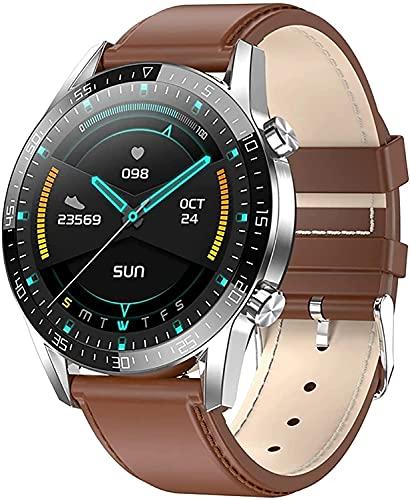 Reloj de Reloj Inteligente Reloj Deportivo a Prueba de Agua con presión Arterial / SPO2 / Monitor de frecuencia cardíaca Vis Cuerpo Temperatura Monitor Podómetro (Color : B)